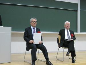 8. 基調講演者の成松先生、清成先生(左から)